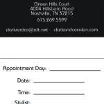 Post card/appointment card design